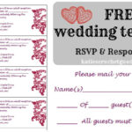 Free Wedding Rsvp & Response Card Template Templat | Wedding inside Free Printable Wedding Rsvp Card Templates