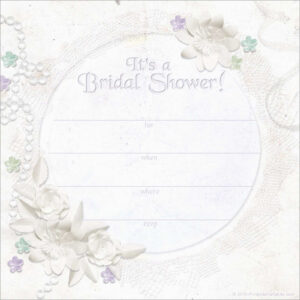 Free Wedding Shower Invitation Templates Good Wedding Shower throughout Blank Bridal Shower Invitations Templates
