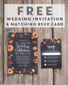 Free Whimsical Wedding Invitation Template | Mountain Modern intended for Free Printable Wedding Rsvp Card Templates