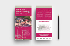 Free Wine Tasting Poster & Dl Card Template – Psd, Ai within Wine Brochure Template