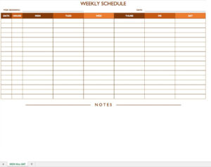 Free Work Schedule Templates For Word And Excel |Smartsheet within Blank Monthly Work Schedule Template