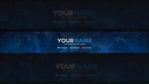 Free Youtube Banner | Template In 2019 | Youtube Banner inside Youtube Banners Template