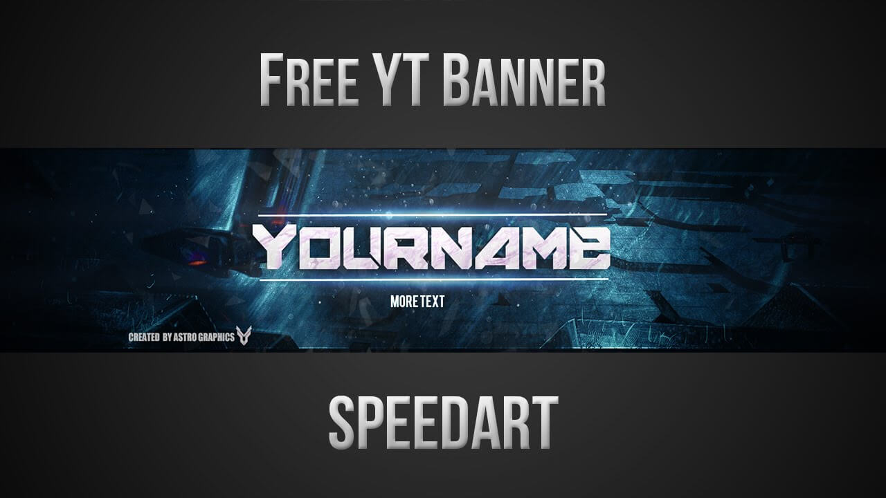 Free Youtube Banner Template (Psd) *new 2015* Throughout Youtube Banners Template