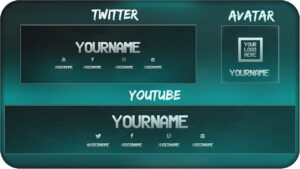 Free Youtube Banner + Twitter Header Template Psd + Direct Download Link –  [New 2015!] within Twitter Banner Template Psd