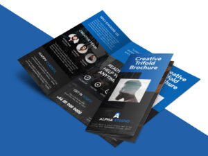 Freebie : Creative Agency Trifold Brochure Free Psd Template throughout Brochure Psd Template 3 Fold