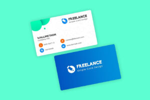 Freelancer Business Visiting Cards Design Template Psd for Freelance Business Card Template