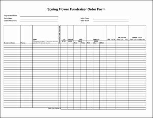 Fresh Blank Fundraiser Order Form Template – Culturatti regarding Blank Fundraiser Order Form Template