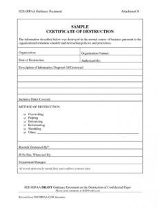 Frightening Certificate Of Destruction Template Ideas within Hard Drive Destruction Certificate Template