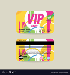 Front And Back Vip Member Card Template inside Template For Membership Cards