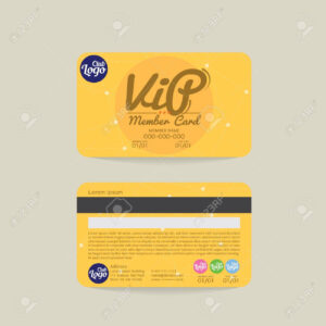 Front And Back Vip Member Card Template Vector Illustration intended for Membership Card Template Free