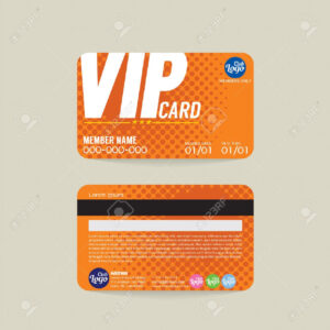 Front And Back Vip Member Card Template Vector Illustration within Membership Card Template Free