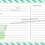 Full Page Recipe Template For Word | Template Business With Full Page Recipe Template For Word