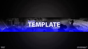 Fully Customizable Yt Banner Template – Tmplts throughout Yt Banner Template