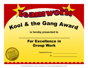Fun Award Templatefree Employee Award Certificate Templates intended for Fun Certificate Templates