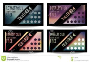 Fun Customer Loyalty Card Templates Stock Vector intended for Customer Loyalty Card Template Free