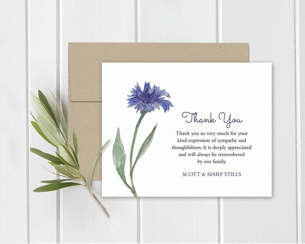 Funeral Acknowledgement Card Template Sympathy Thank You In Sympathy Thank You Card Template