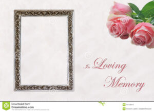 Funeral Eulogy Card Stock Image. Image Of Celebration – 34709417 for In Memory Cards Templates