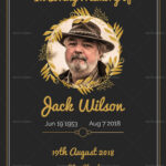 Funeral Invitation Card Template | Celebration Of Life inside Funeral Invitation Card Template