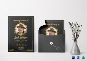 Funeral Invitation Card Template with Funeral Invitation Card Template