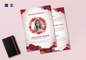 Funeral Memorial Service Program Template With Regard To Memorial Brochure Template
