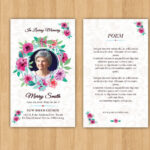 Funeral Prayer Card Template | Editable Ms Word & Photoshop For Prayer Card Template For Word