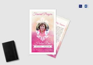 Funeral Prayer Card Template For Grandmother inside Prayer Card Template For Word