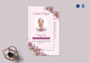 Funeral Prayer Card Template For Loved Ones within Prayer Card Template For Word