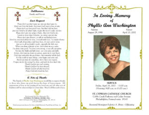 Funeral Program Template Sample Free Loving Memory Templates throughout In Memory Cards Templates