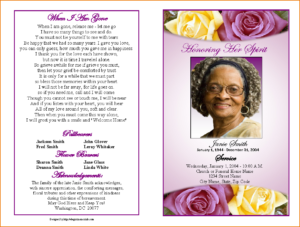 Funeral Programs Template Funeral Program Template Lwxvhbt regarding Memorial Cards For Funeral Template Free