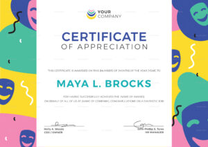 Funny Appreciation Certificate Template for Funny Certificate Templates