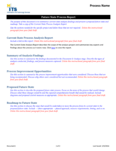 Future State Process Report Template throughout State Report Template