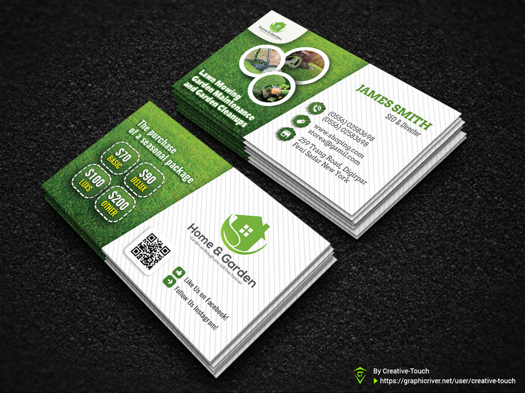 Garden Landscape Business Card Template   Download Here - Gr Throughout Landscaping Business Card Template