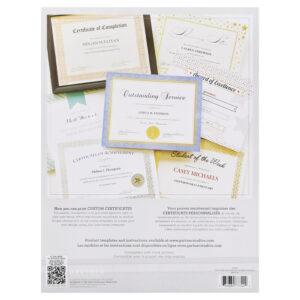 Gartner Studios Silver Border Certificates in Gartner Certificate Templates