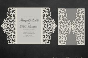 Gate Fold Wedding Invitation , 5X7, Cricut Template, Quinceanera Card –  Svg, Dxf, Cricut, Silhouette Cameo with Silhouette Cameo Card Templates