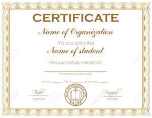 General Purpose Certificate Or Award With Sample Text That Can.. regarding Template For Certificate Of Award