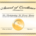 Generic Award Certificate In Vector Format – Trashedgraphics Throughout Generic Certificate Template