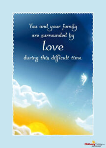 Get Inspirational Sympathy & Condolences Cards Free Online with Death Anniversary Cards Templates