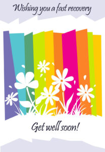 Get Well #card Free Printable – Fast Recovery Flowers regarding Get Well Soon Card Template