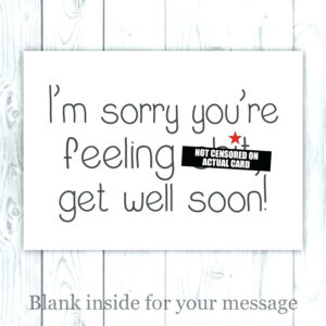 Get Well Soon Cards Coloring Printable – Champprint.co inside Get Well Soon Card Template