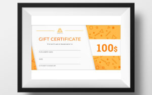 Gift Certificate Template | Design Illustration Art within Company Gift Certificate Template
