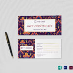 Gift Certificate Template for Gift Certificate Template Indesign