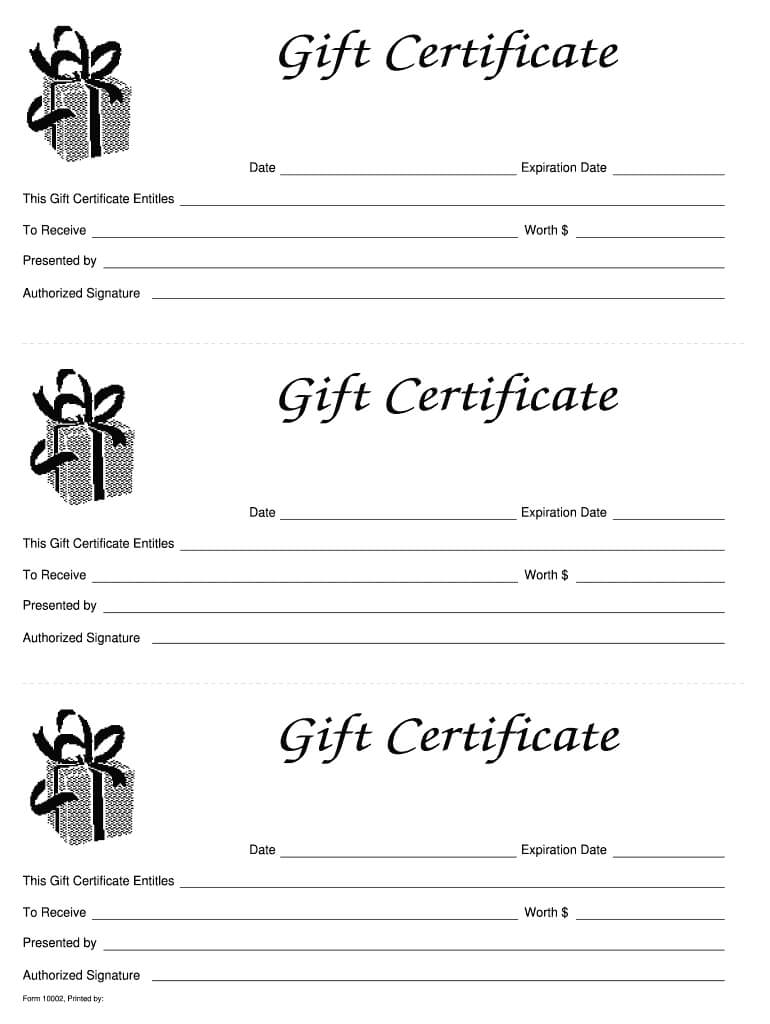 Gift Certificate Template Free - Fill Online, Printable Pertaining To Fillable Gift Certificate Template Free