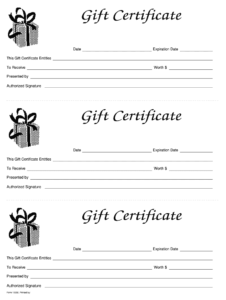 Gift Certificate Template Free – Fill Online, Printable with Printable Gift Certificates Templates Free
