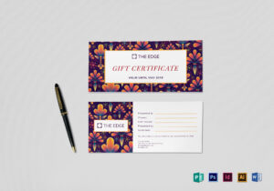 Gift Certificate Template in Gift Certificate Template Publisher