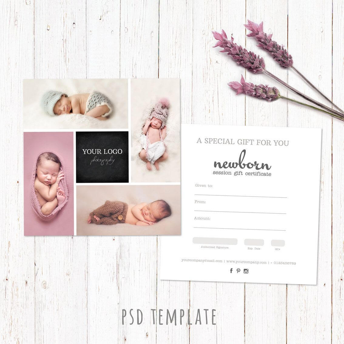 Gift Certificate Template. Newborn Session Photography Gift Throughout Photoshoot Gift Certificate Template