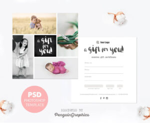 Gift Certificate Template. Photography Mini Session Gift with Free Photography Gift Certificate Template