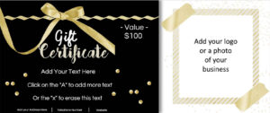 Gift Certificate Template With Logo inside Free Photography Gift Certificate Template