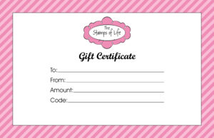 Gift Certificate Templates To Print | Activity Shelter inside Pink Gift Certificate Template