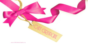 Gift Certificate With A White Background And A Pink Ribbon regarding Pink Gift Certificate Template