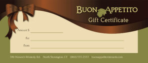 Gift Certificates For Buon Appetito Ristorante & Pizzeria Regarding Pizza Gift Certificate Template